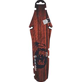 "rie:sel design rit:ze back fender saddle 26"" - 29"" red wood gorilla"